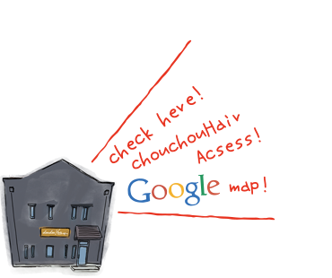 お店のアクセスマップはこちらのGooglemapよりご確認ください